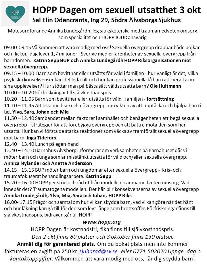 HOPP Dagen 3 okt